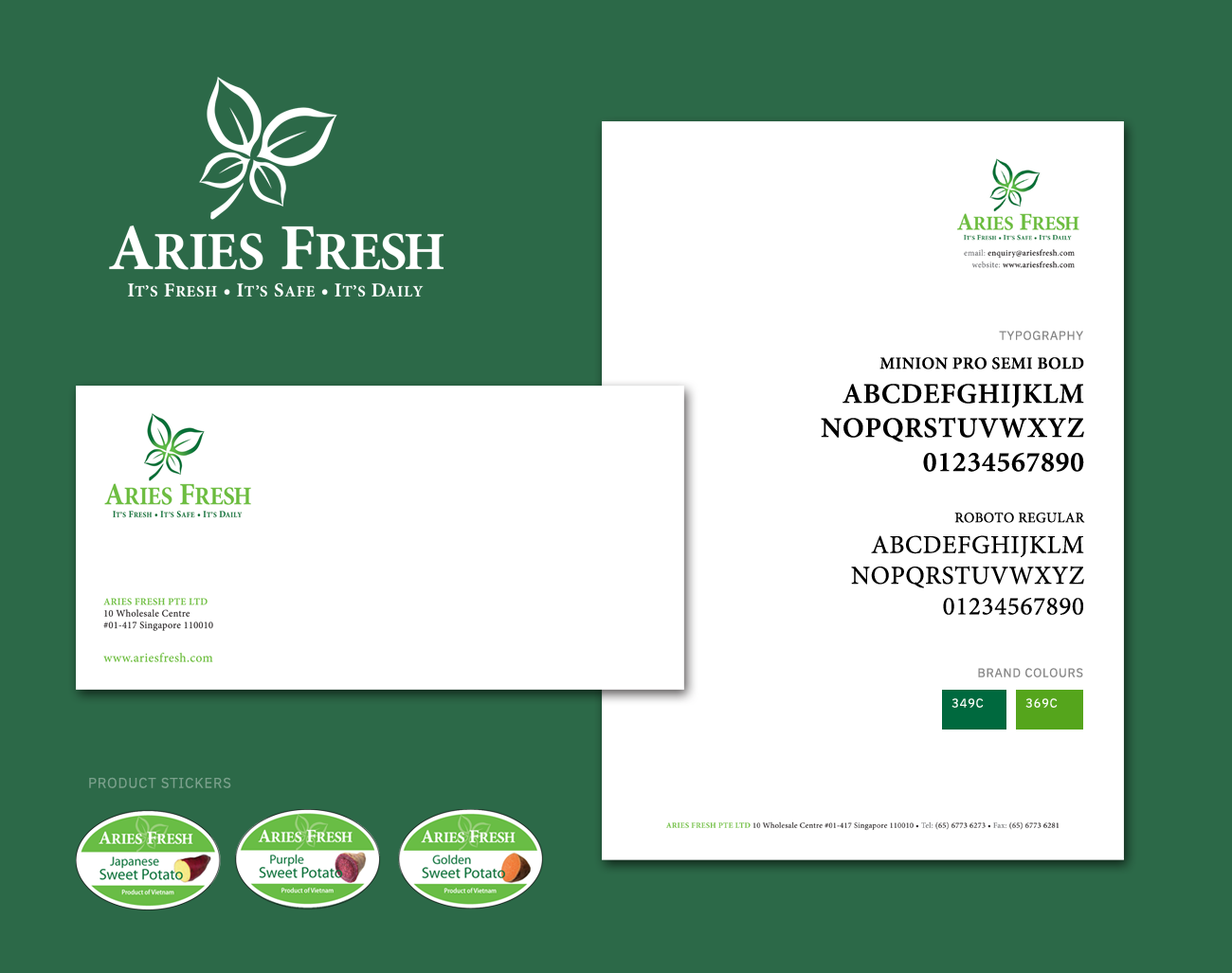 Aries Fresh Logo Design, Ease Communications