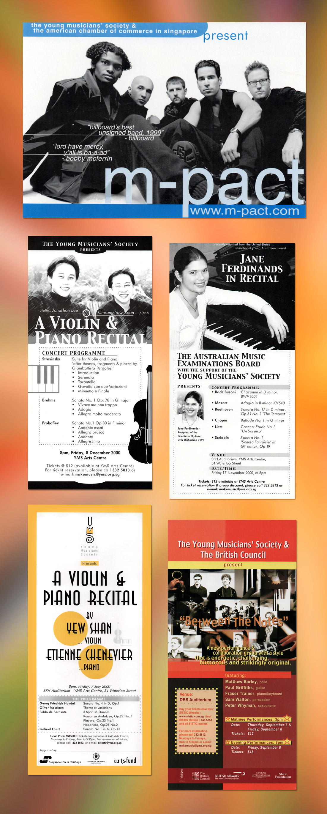 Musical Event Brochures, Ease Communications
